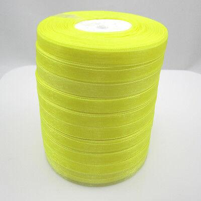 """New 50 Yards 3/8"""" 9mm Satin Edge Sheer Organza Ribbon Bow Craft many color pick"""