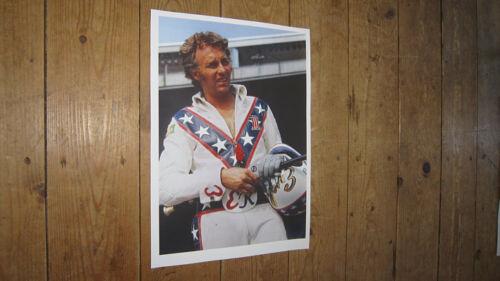 Evel Knievel motorbike daredevil  Helmet POSTER