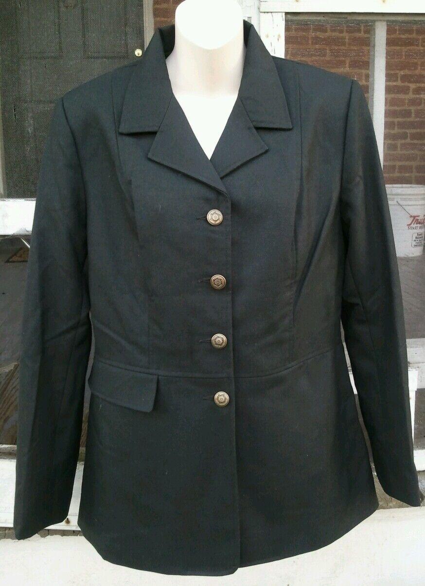 NWT RH COLLECTION Dark Olive 4-Button Kleidage Hunt Coat Show Jacket LDS SZ 16