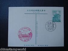 China taiwan poscard,2 nice postmarks dd 12.11.1959(48) printed politic slogan