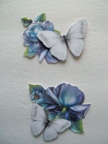 Flower Bird Butterfly Basket Wagon Scrapbook Card Embellishment FL2 3D-U Pick