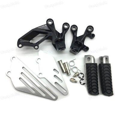 Black Rear Foot Pegs Bracket Fit For Kawasaki Ninja ZX6R 2009-2014 ZX10R 2008-10
