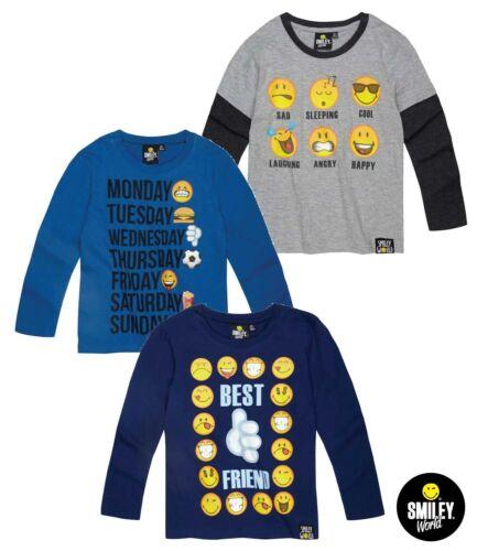 Boys Smiley Long Sleeve T-Shirt 6-12years
