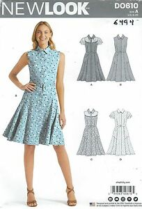 c8cf2e9525 New Look 6494 Misses' Dresses 8 to 20 Sewing Pattern