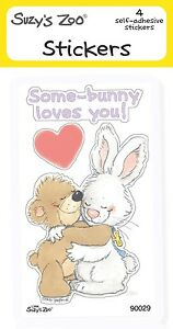 "Suzy's Zoo Stickers 4-pack, ""Some Bunny Loves You"" 10120"
