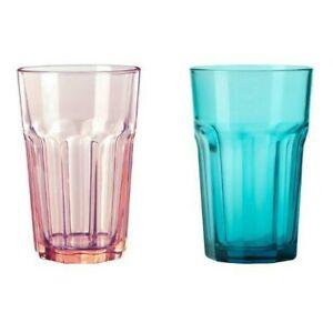 Ikea Pokal AZUL CERCETA Turquesa Vidrio 35cl media pinta jugo vaso de agua potable