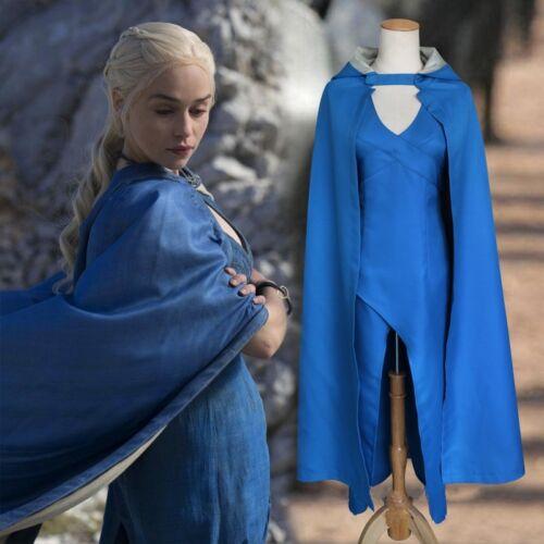 1 SETGame of Thrones Daenerys Targaryen Cosplay Costume Women Halloween Dress