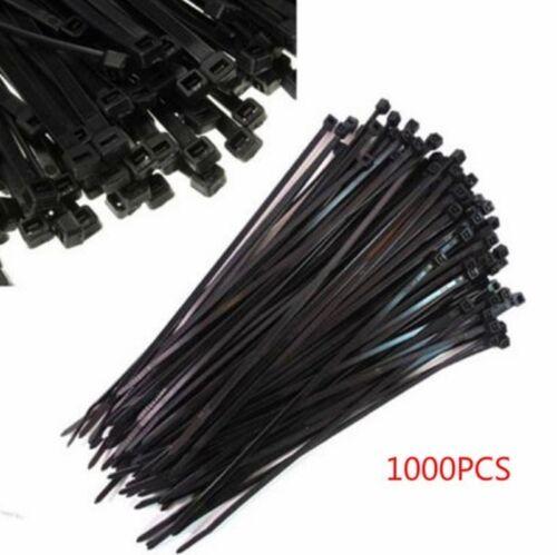 Selbstsichernde 1000pcs 3x100mm Nylon Kunststoff Zip Wrap Kabelbinder Draht WS6