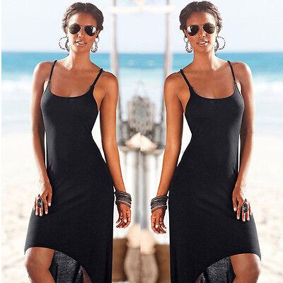 Women Sleeveless Summer Dress Boho Maxi Long Evening Party Dress Beach New