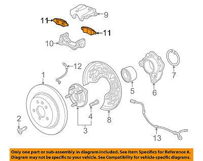 GM OEM Brake-Rear Pads 20829195