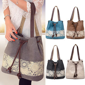 Image is loading Womens-Ladies-Canvas-Summer-Beach-Tote-Bag-Shoulder- 16a60179e5