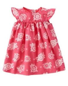 NWT-Gymboree-ELEPHANT-OASIS-Size-6-12-Floral-Print-Dress