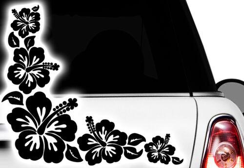 1 piezas de auto pegatinas hibisco flores mariposas Hawaii murales x2x