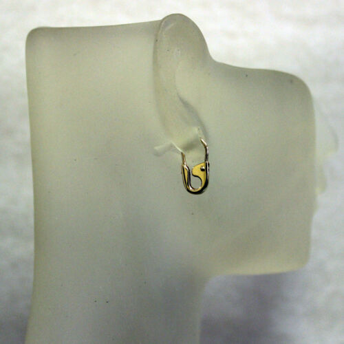 """14k or Jaune Goupille De Sécurité Boucles d/'oreilles paire 1//2/"""" Long handmade in USA"""