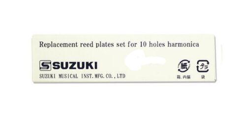 US Dealer Suzuki Firebreath /& Pure Harp Harmonica Replacement REEDPLATES