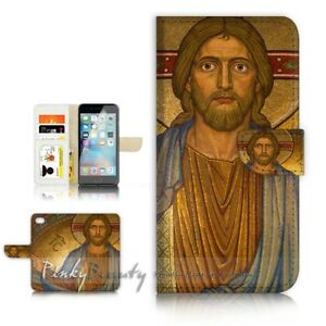 ( For iPhone 5 / 5S ) Wallet Case Cover P21445 Jesus God Father