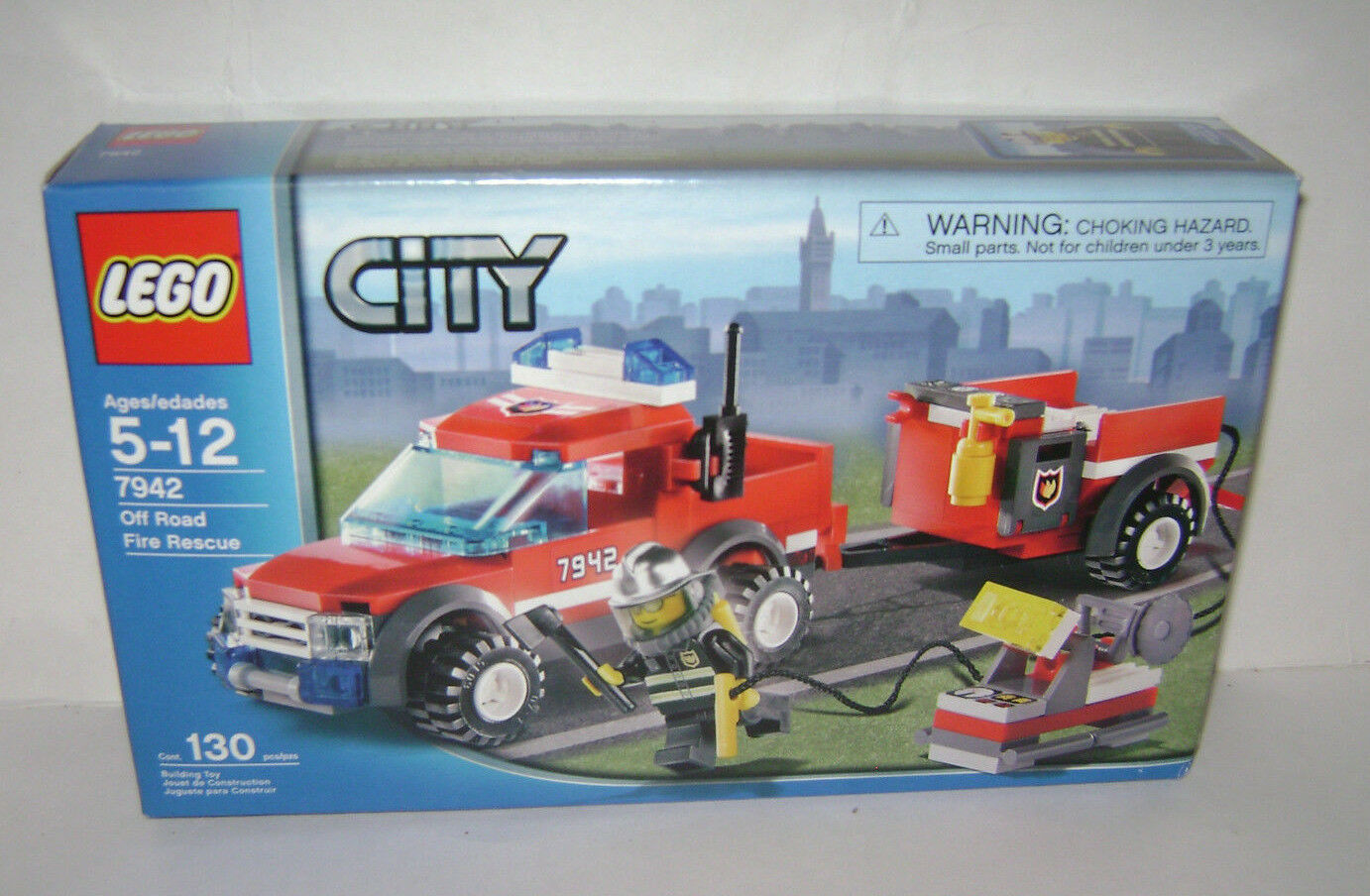 NEW 7942 Lego CITY Off Road Fire Rescue Building Toy SEALED BOX RETIRED RARE A