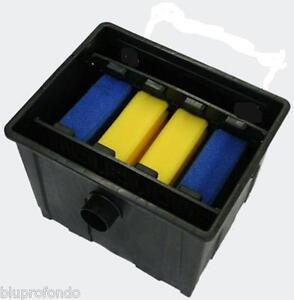 Filtro per laghetto mod cbf 350 per 12000lt uvc pompa ebay for Filtro per laghetto esterno