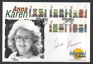 2001 Double Decker Buses Ltd Edition FDC signed Anna Karen.