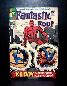 COMICS-Marvel-Fantastic-Four-56-1966-1st-Klaw-cover-RARE