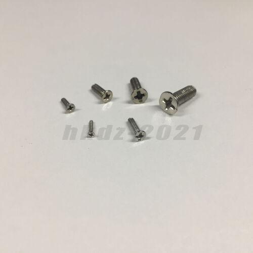 M1.2 M1.4 M1.6 M1.7 Ni-Plated Machine Screws Set for Laptop//Keyboard//Phone//DIY