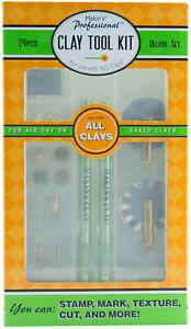 Makin-039-s-Professional-Clay-Tool-Kit-Set-Makins-24-pcs-Cutters-Texture-Points