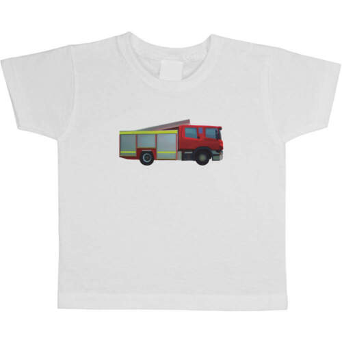Kid/'s Cotton T-Shirts /'Fire Engine/' Children/'s TS022897