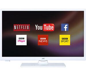 """JVC LT-24C661 Smart 24"""" LED TV - White"""
