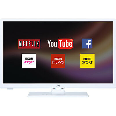"JVC LT-24C661 Smart 24"" LED TV, White, Access content on Netflix,HD Ready 720p"