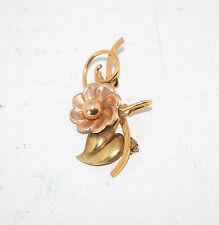 "Vintage Bal-Ron 1/20 12KT G. F. Flower Pin Brooch Pendant - 1 1/2"" W x 1"" H"