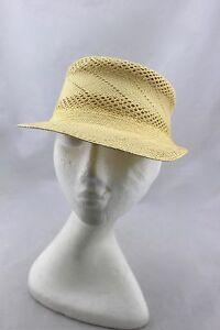 PANTROPIC-Sebastopol-CA-Tan-Straw-Woven-Light-Sun-Cap-Hat
