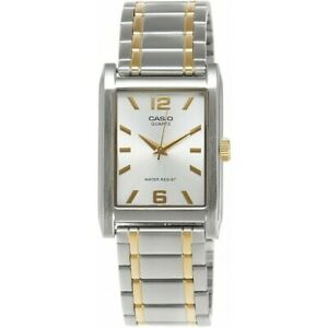 12bb3e6e3 Casio MTP-1235SG-7A Mens Gold Two Tone Stainless Steel Square Analog ...