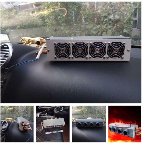 12V 80W Car Underdash Heater Defroster Demister Heating Tool 4 Hole Ports Warmer