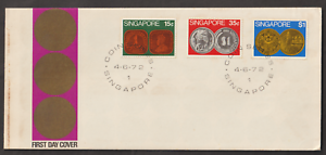 (F32)SINGAPORE 1972 COINS FDC. ISC CAT RM 26