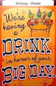 Image Is Loading BIRTHDAY CARD HALLMARK For FRIEND FUNNY HUMOR CHOOSE