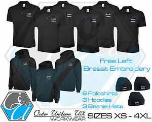 Embroidered Work Wear Package Sweatshirt 3 Hoodie 6 Polo Shirt 3