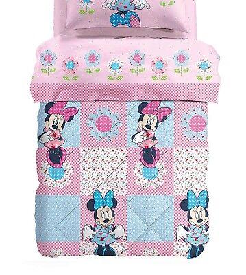 Disney Copripiumino.Quilt Winter Duvet Microfiber Caleffi Disney Minnie Patchwork