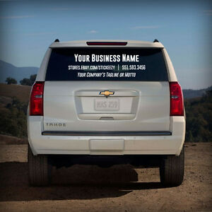 Custom Business Name Decal Window Vinyl Sticker Lettering Car - Custom car window decals business