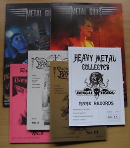 Metal-Gods-1-2-HM-Collector-RARE-RECORDS-8-9-10-11-6x-Heavy-Metal-zines