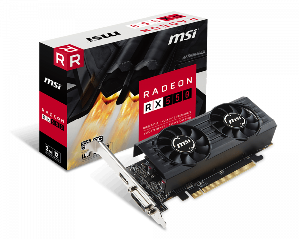 MSI AMD RX 550 2G low profile OC Edition Dual Fans MSI AMD RX 550 2G low profile