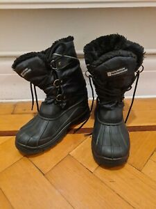 mountain-warehouse-black-snow-whistler-boots-Size-UK-2-Outdoor-Waterproof