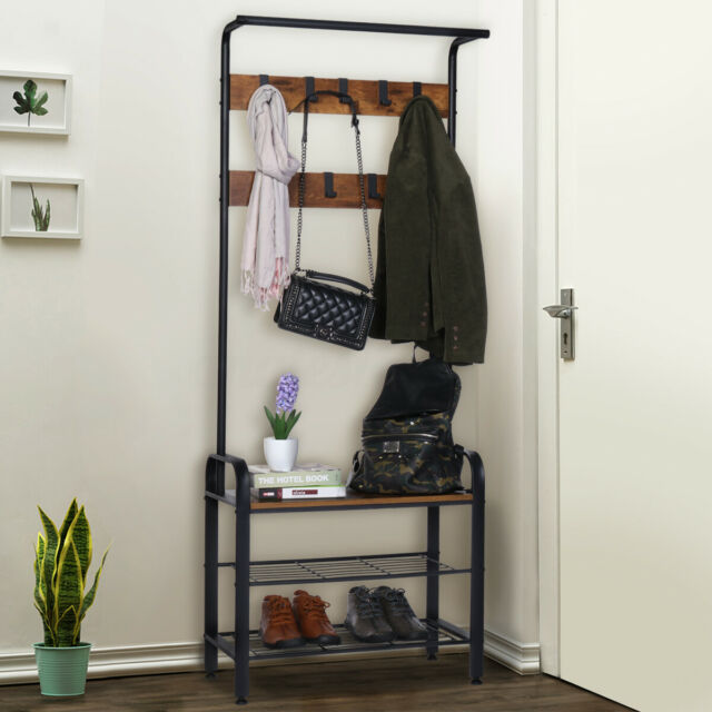 Bench For Mudroom Foyer Coat Rack
