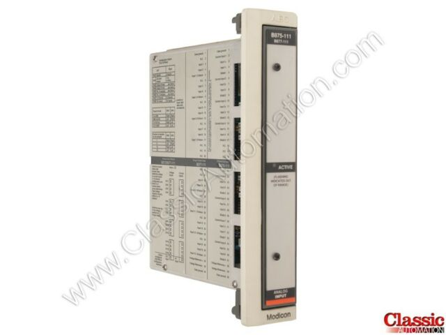 Aeg Modicon AS-B875-111 Analog Input Module
