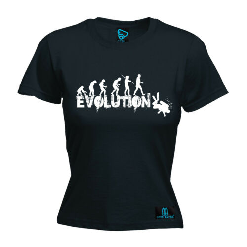Evolution Scuba Diver WOMENS Open Water T-SHIRT tee birthday gift funny diving
