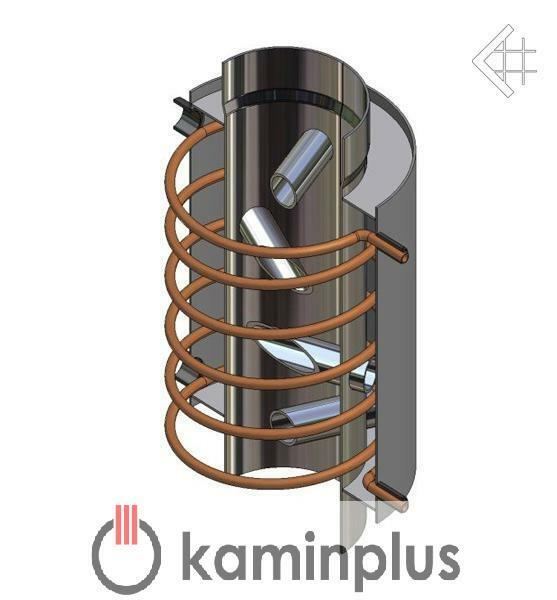 Abgas Wärmetauscher WASSERFÜHREND 10 kW Heizaufsatz Kamin Rauchgaswärmetauscher