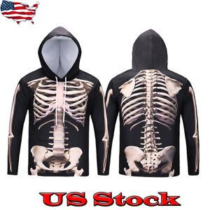 Men-Skeleton-Hoody-Casual-Hoodie-Sweatshirt-Horror-Halloween-Bone-Scary-Ghost