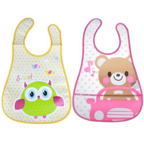 Cute Cartoon Baby Kids Bibs Waterproof Saliva Towel Feeding Bandana Apron HG#