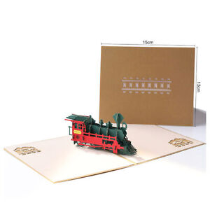 3D-Pop-Up-Greeting-Card-Handmade-Wedding-Valentine-Birthday-Card-Retro-Train