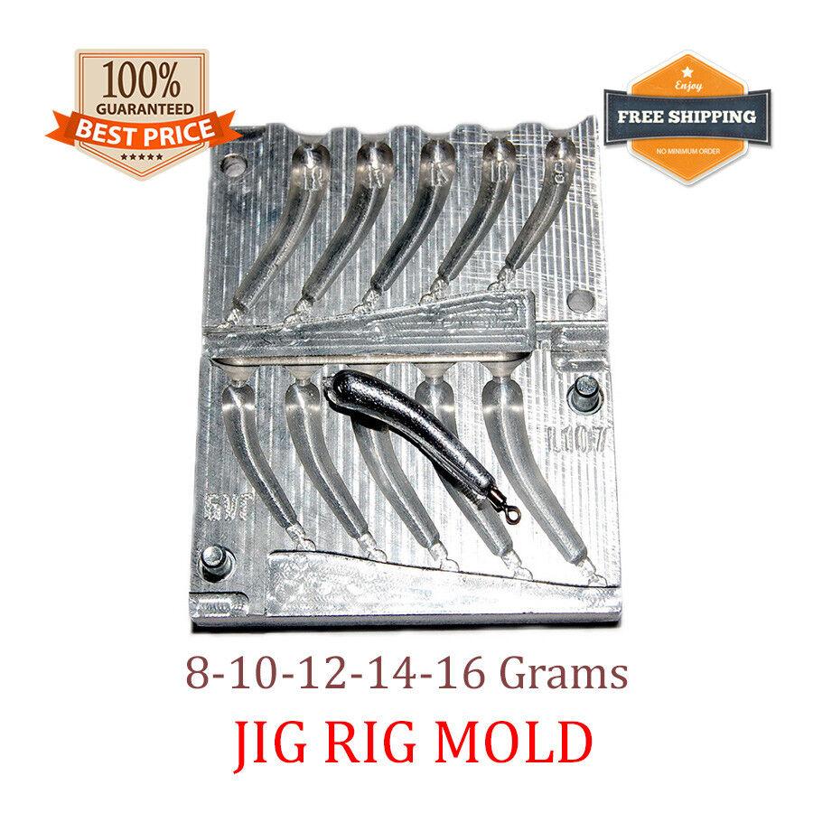 Fishing Drop Shot Mold Lead Sinker Jig Rig Weights 5 cavity (8 - 16 G)