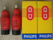 2x  EF6   PHILIPS - MULLARD   audio tubes  - NOS -  EF 6